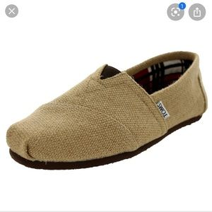 New Toms Burlap loafers/flats- 8-8.5 ( Nwot)
